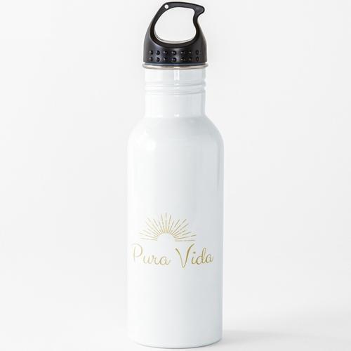 Pure Vida - Pures Leben Wasserflasche