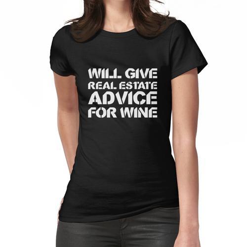 Gibt Immobilienberatung für Wein - Immobilien Shirt - Immobilienmakler Frauen T-Shirt