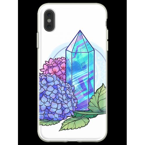 Fluorit-Kristallturm Flexible Hülle für iPhone XS Max