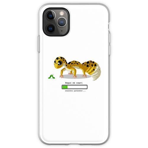 Geckos Fütterungszeit Flexible Hülle für iPhone 11 Pro Max