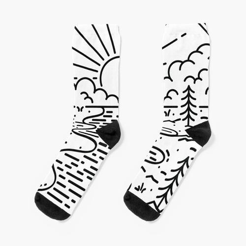 Große Natur Socken