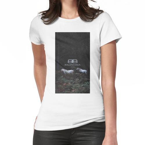 Schwarzes Tapete Frauen T-Shirt