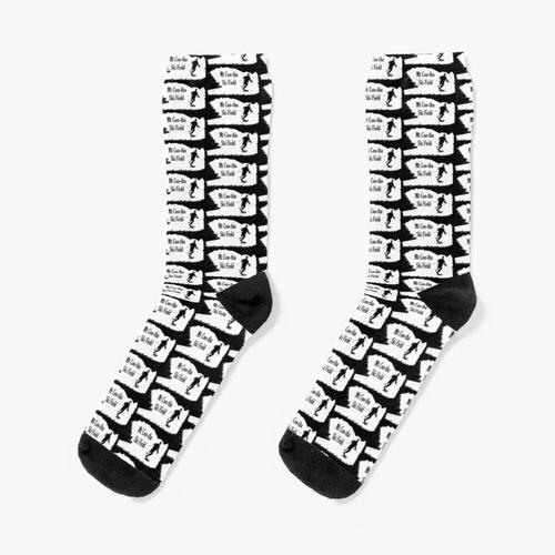 Mt Coo-tha Ski Field Rechteckiges Logo Socken