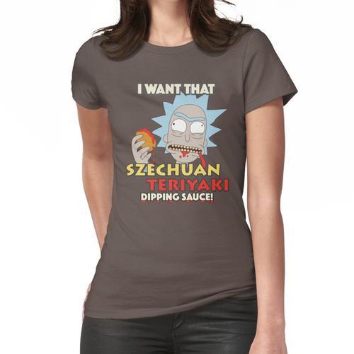 Rick und Morty Szechuan Teriyaki Dip Frauen T-Shirt
