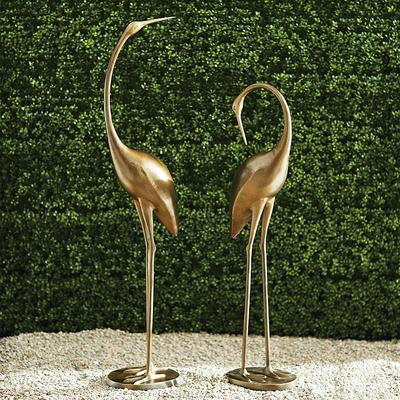 Brass Cranes - 45-3/4H Head Up - Frontgate
