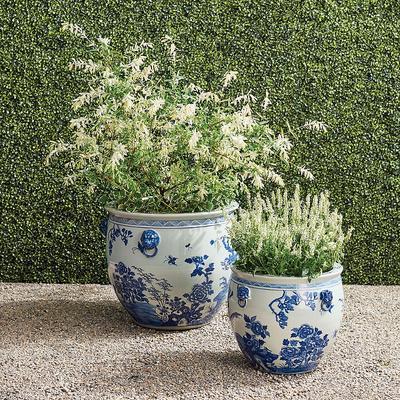 Blue Ming Handpainted Ceramic Pl...