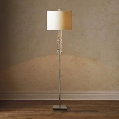 Diana Crystal Floor Lamp - Grey ...