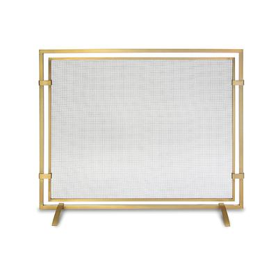 Sinclair Single Panel Fireplace Screen - Iron - Frontgate