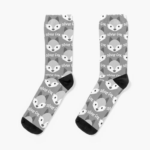 Silber Fuchs Socken