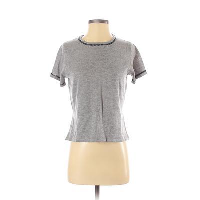 Norton McNaughton Pullover Sweater: Gray Print Tops - Size Small