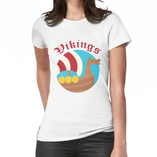 Viking Vikings Boot Frauen T-Shirt