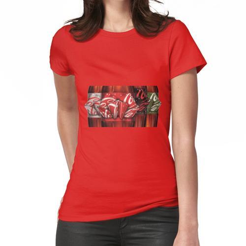 Coca Cola Christmas Bows Auf Flaschenetiketten Frauen T-Shirt