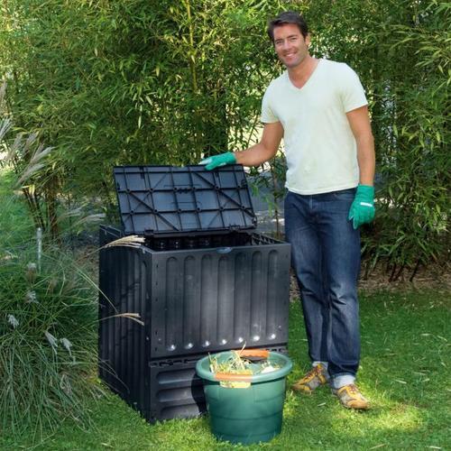 Komposter Eco-King, 600 l, schwarz