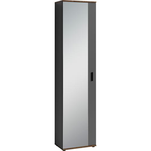 Homexperts Garderobenschrank Justus, mit Spiegel grau Garderobenschränke Garderoben