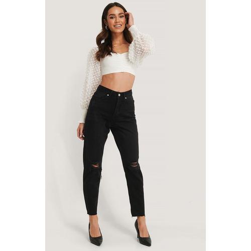 NA-KD Jeans Mit Zerrissenen Knien Und Hoher Taille
