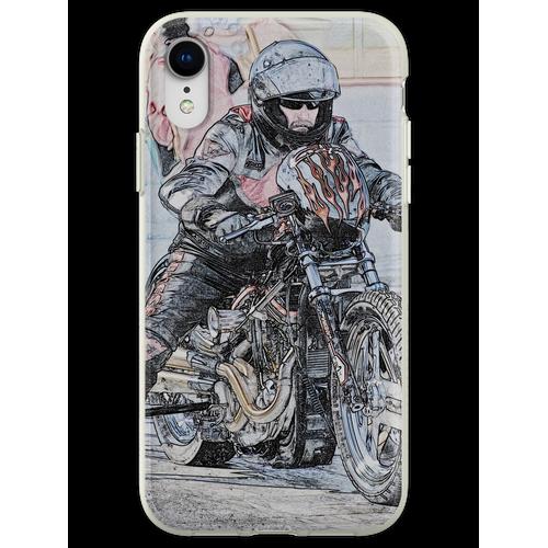 Harley Drag Fahrrad I Flexible Hülle für iPhone XR