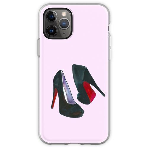 Schwarze Damenschuhe Flexible Hülle für iPhone 11 Pro
