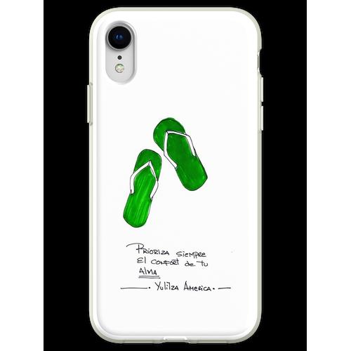 Komfort Sandalen Flexible Hülle für iPhone XR