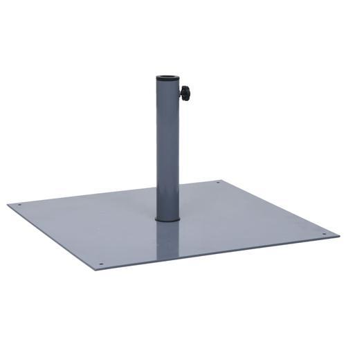 vidaXL Sonnenschirmständer Dunkelgrau Stahl Quadratisch 17 kg