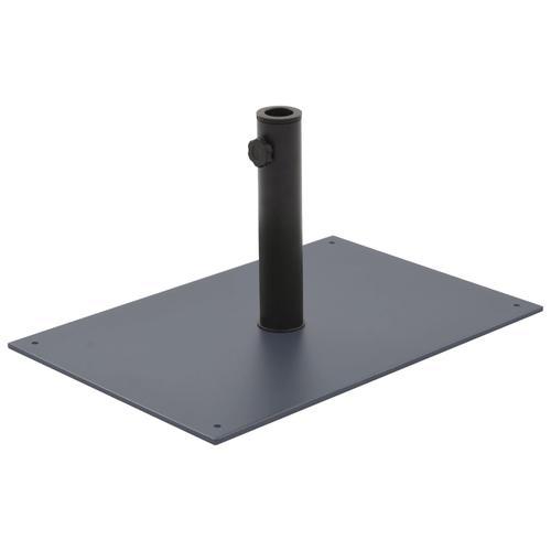 vidaXL Sonnenschirmständer Dunkelgrau Stahl 15 kg