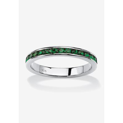 Sterling Silver Simulated Birthstone Stackable Eternity Ring by PalmBeach Jewelry in May (Size 7)