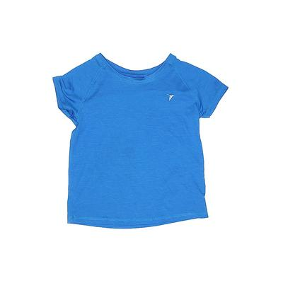 Old Navy Active T-Shirt: Blue Solid Sporting & Activewear - Size 8