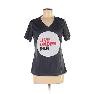 Tek Gear Active T-Shirt: Gray Graphic Activewear - Size Medium
