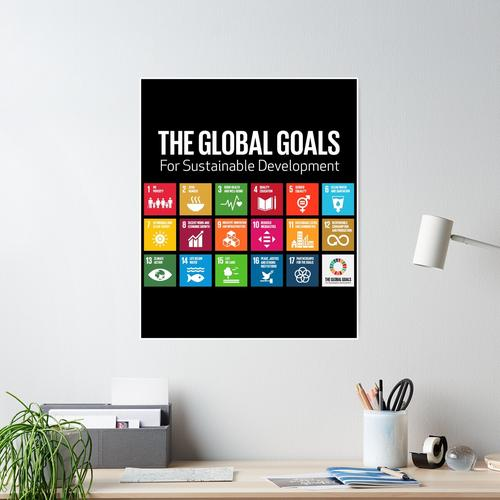 The Global Goals 17 Global Goals Icons Grid Poster