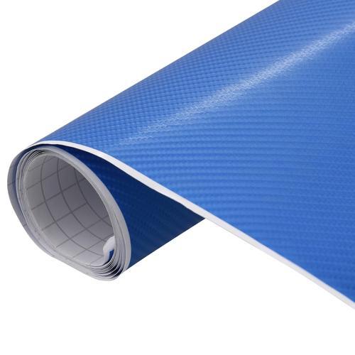 vidaXL Autofolie Matt 4D Blau 200×152 cm