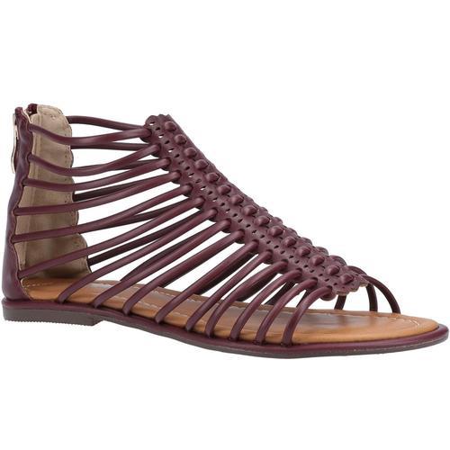 Divaz Sandale Damen Gemma Gladiator Zip braun Sandaletten Sandalen