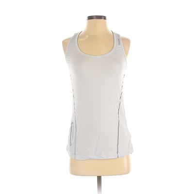 Reebok Active Tank Top: Blue Solid Activewear - Size X-Small