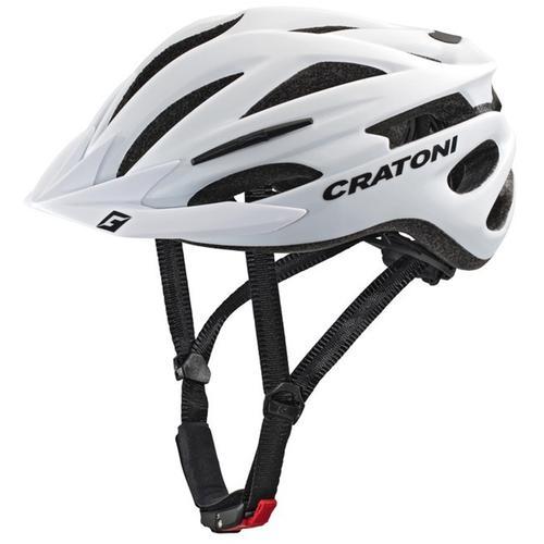 Cratoni Mountainbikehelm MTB-Fahrradhelm Pacer weiß Rad-Ausrüstung Radsport Sportarten