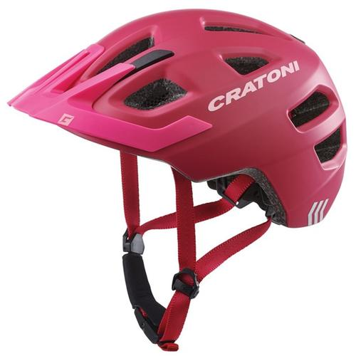 Cratoni Kinderfahrradhelm Fahrradhelm MAXSTER PRO rot Rad-Ausrüstung Radsport Sportarten