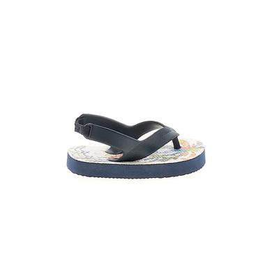 Flip Flops: Blue Solid Shoes - Size 3
