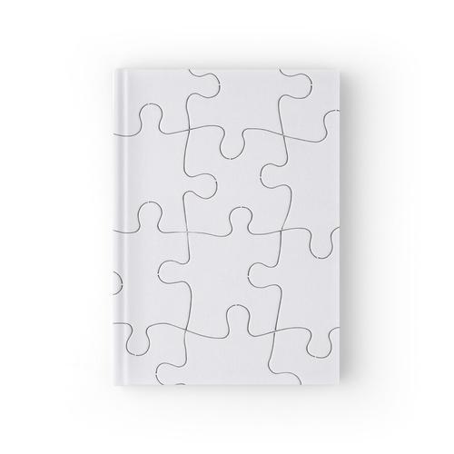 Puzzle Linien Design Notizbuch