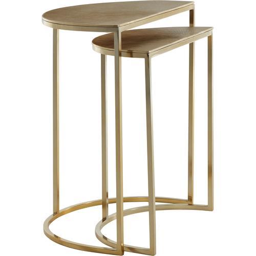 Guido Maria Kretschmer Home&Living Beistelltisch, (Set), aus Aluminium goldfarben Beistelltische Tische Beistelltisch