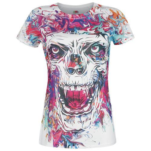 Color Skull Damen-T-Shirt - multicolor