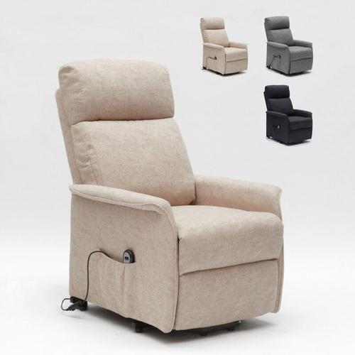 Elektrisches Relaxsessel mit Aufstehhilfe für Senioren Giorgia Fx | Farbe: Beige