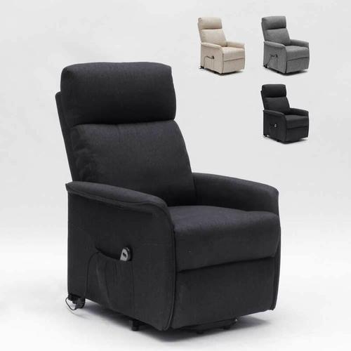 Le Roi Du Relax - Elektrisches Relaxsessel mit Aufstehhilfe für Senioren Giorgia Fx | Farbe: Schwarz