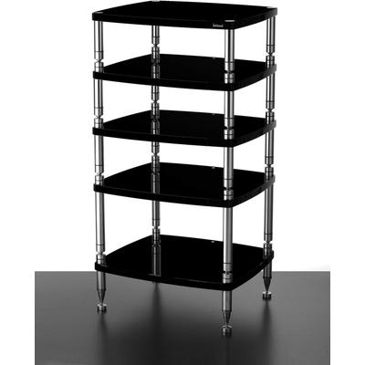solidsteel HF-5 Five Shelf Audio Rack- Gloss Black