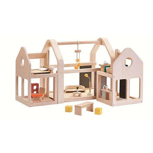 Puppenhaus Slide N Go Puppenhaus Puppenhäuser holzfarben