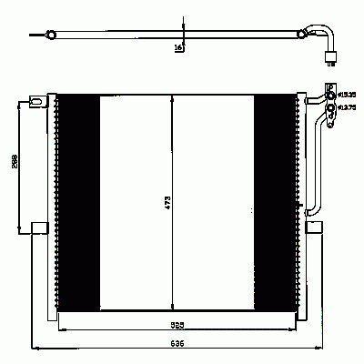 Condenseur, climatisation NRF B.V. 35468