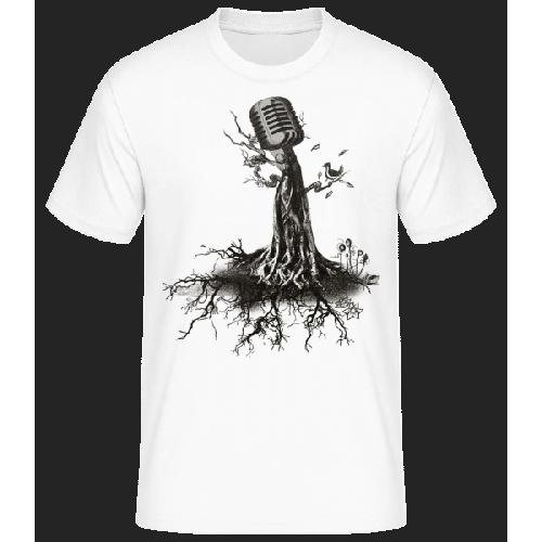 Mikrofon Baum - Männer Basic T-Shirt