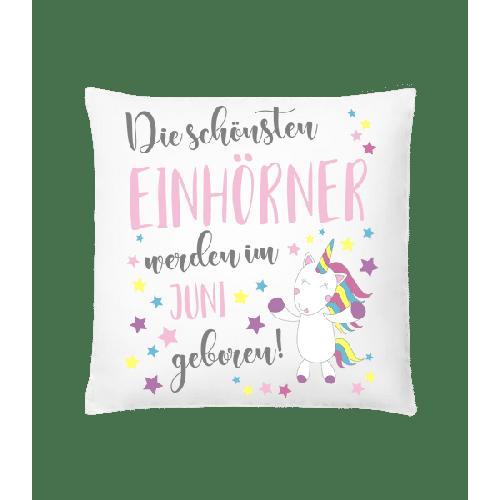 Einhorn Geboren In JUNI - Kissen