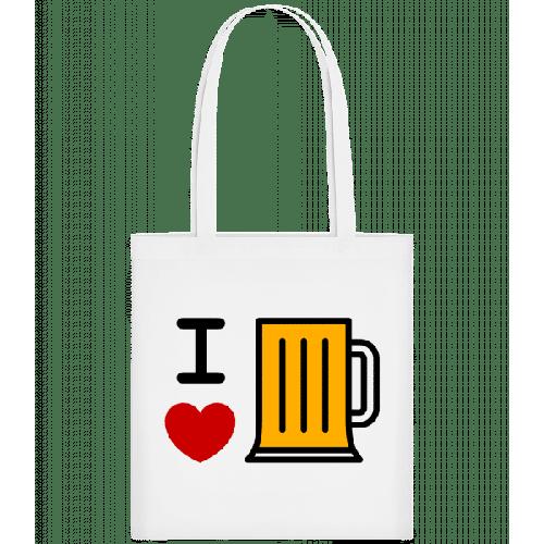 Ich Liebe Bier - Stoffbeutel