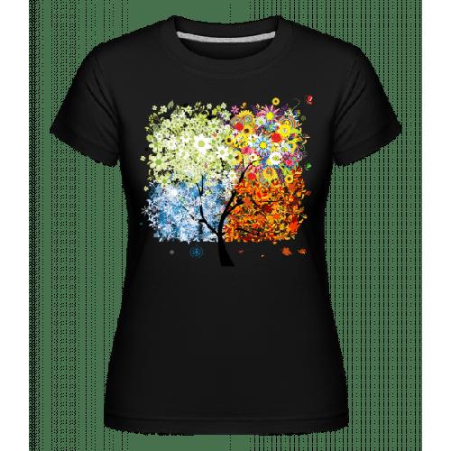 Vier Jahreszeiten Baum - Shirtinator Frauen T-Shirt