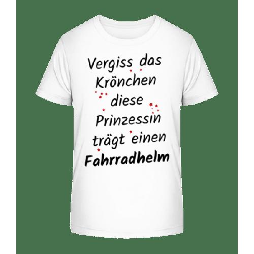 Prinzessin Trägt Fahrradhelm - Kinder Premium Bio T-Shirt