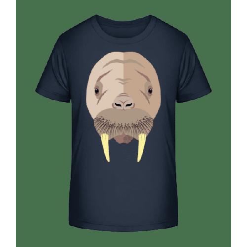 Seehund Comic Schatten - Kinder Premium Bio T-Shirt