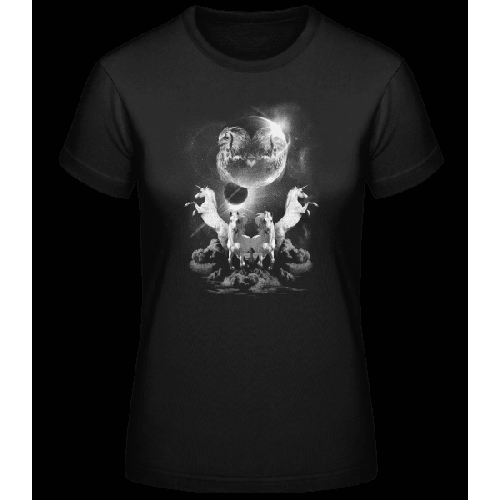 Mystische Einhorn Nacht - Basic T-Shirt