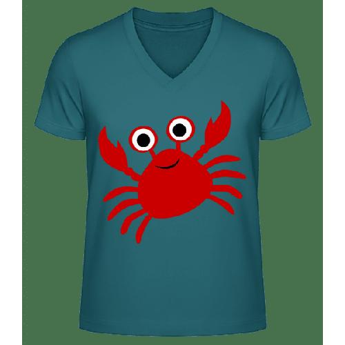Krabbe - Männer Bio T-Shirt V-Ausschnitt